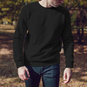 Мужской свитшот черный фото