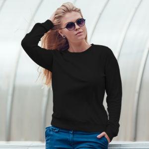 Женский свитшот черный фото