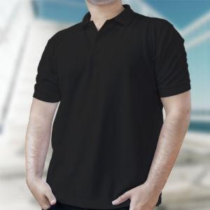 Мужская рубашка-поло черная фото