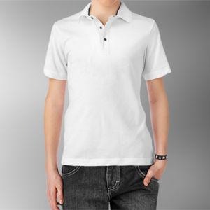 Детская рубашка-поло белая фото