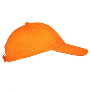 Бейсболка на липучке оранжевая фото