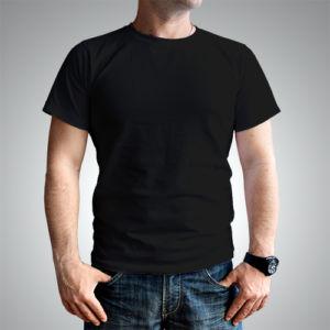 Мужская футболка хлопок черная фото