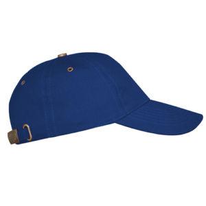 Бейсболка с металлической застежкой синяя фото