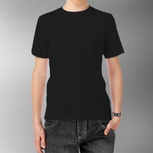 Детская футболка хлопок черная фото