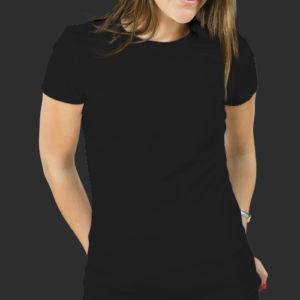 Женская футболка хлопок черная фото