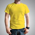 Мужская футболка хлопок желтая