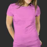 Женская футболка хлопок розовая