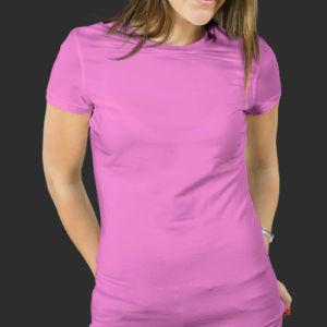 Женская футболка хлопок розовая фото