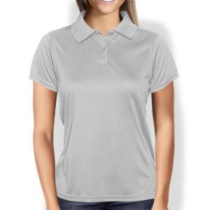 Женская рубашка-поло серая фото