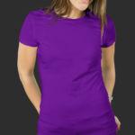 Женская футболка хлопок фиолетовая
