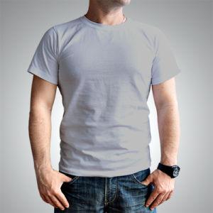Мужская футболка хлопок серая фото