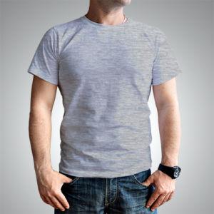 Мужская футболка хлопок меланж фото