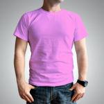 Мужская футболка хлопок розовый