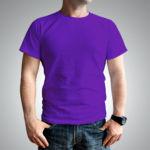 Мужская футболка хлопок фиолетовая