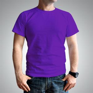 Мужская футболка хлопок фиолетовая фото