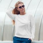 Женский свитшот белый