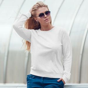 Женский свитшот белый фото
