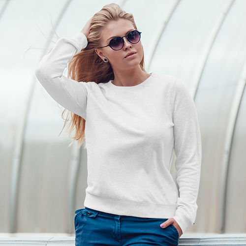 7dd5cf1c80571 Женский свитшот белый - купить или заказать печать на модели