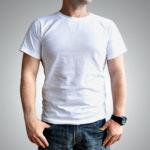Мужская футболка хлопок белая
