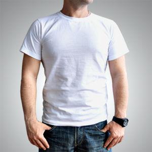 Мужская футболка хлопок белая фото