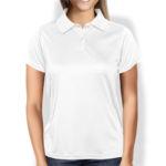 Женская рубашка-поло белая