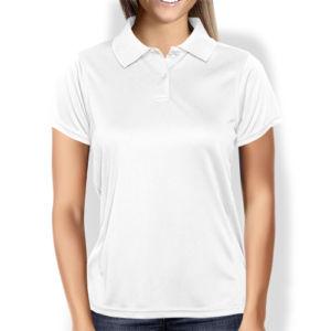 Женская рубашка-поло белая фото