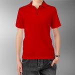 Детская рубашка-поло красная