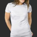 Женская футболка хлопок белая