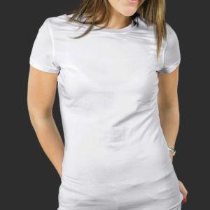 Женская футболка хлопок белая фото