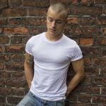 Мужская футболка стрейч белая