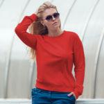 Женский свитшот красный