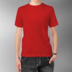 Детская футболка хлопок красная