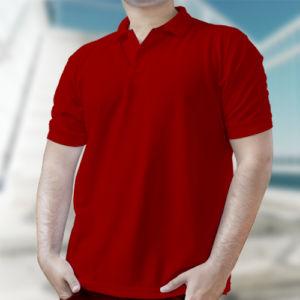 Мужская рубашка-поло красная фото