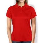 Женская рубашка-поло красная