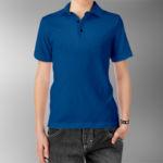 Детская рубашка-поло синяя