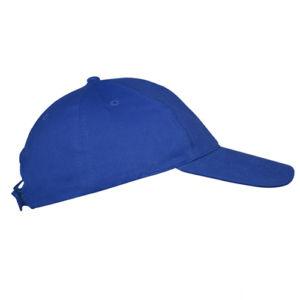 Бейсболка на липучке синяя фото