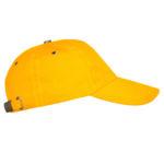 Бейсболка с металлической застежкой желтая