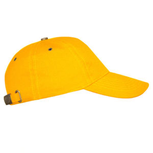 Бейсболка с металлической застежкой желтая фото