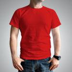 Мужская футболка хлопок красная