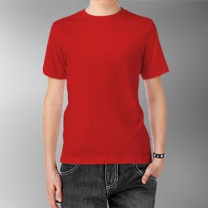 Детская футболка хлопок красная фото