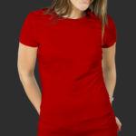 Женская футболка хлопок красная