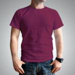 Мужская футболка хлопок бордовая