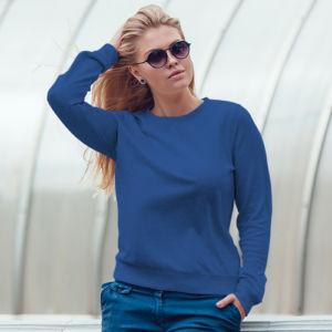 Женский свитшот синий фото