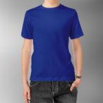 Детская футболка хлопок синяя