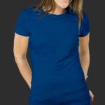 Женская футболка хлопок синяя