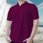 Мужская рубашка-поло бордовая