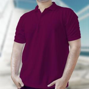 Мужская рубашка-поло бордовая фото