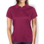 Женская рубашка-поло бордовая
