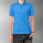Детская рубашка-поло голубая