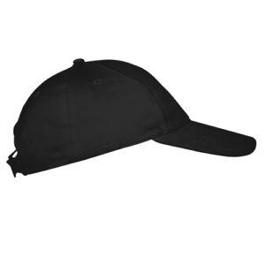 Бейсболка на липучке черная фото
